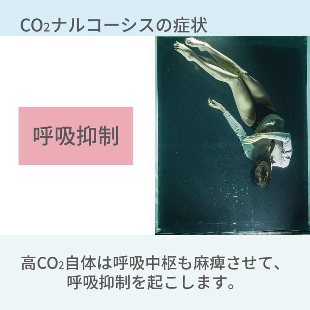 CO2ナルコーシス、症状