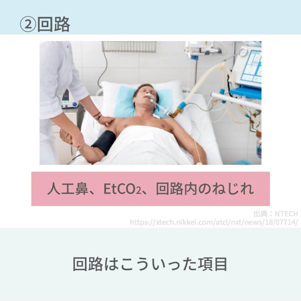 人工呼吸器、看護、観察項目